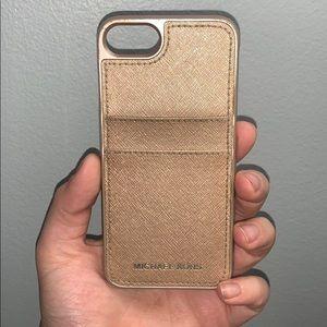 iphone 7 michael kors rose gold case